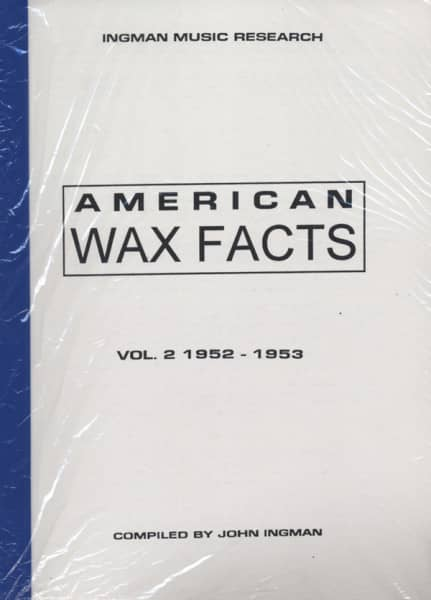 American Wax Facts - American Wax Facts Vol.2 1952-1953