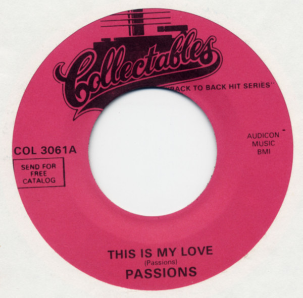 This Is My Love b-w Sunday Kind Of Love 7inch, 45rpm