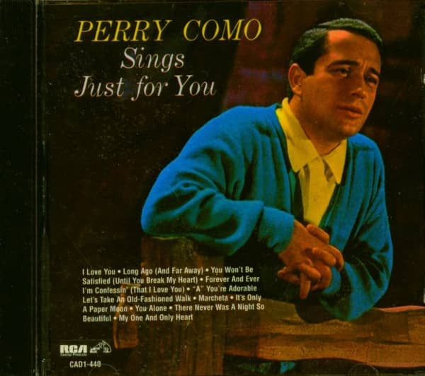 Perry Como Sings Just For You (CD)