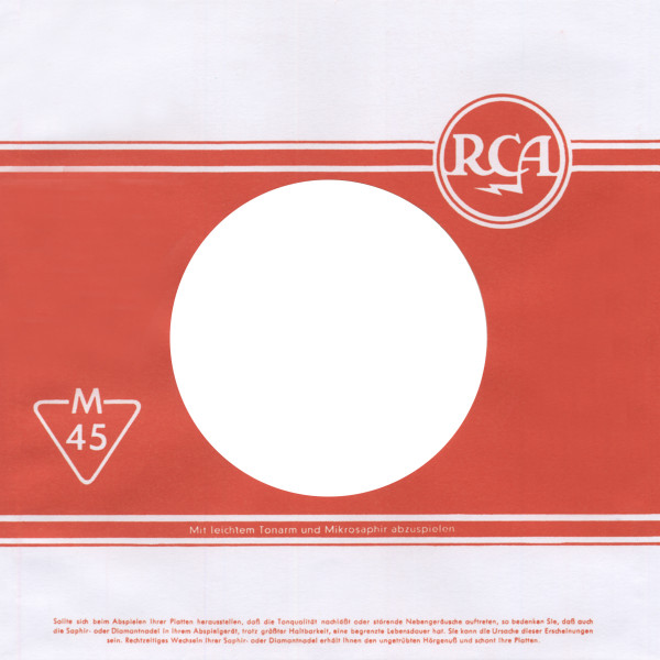 (50) RCA - 45rpm record sleeve - 7inch Single Cover